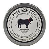 Bull and Bell Amber Sandalwood Shaving Soap  Handmade in America with All Natural Premium Quality Ingredients Including Mango Butter and Coconut Oil  4 Ounces  Best Shave Soap for Sensitive Skin