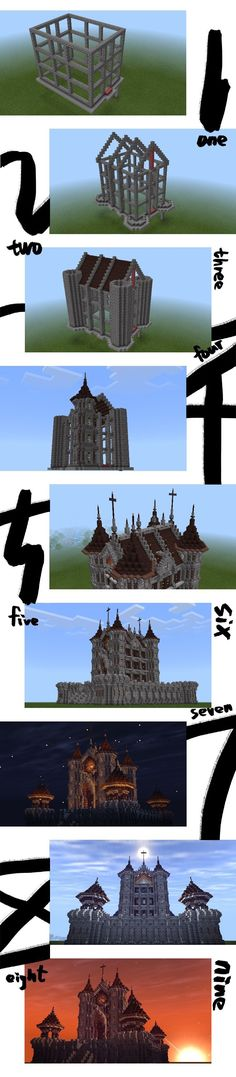 Some giant minecraft builds