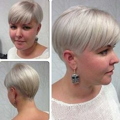 short hairstyles for overweight women - Google Search
