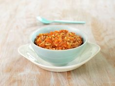 SPAGETTI I KJØTTSAUS Spagetti Recipe, Frisk, Bolognese, Baby Food Recipes, Cereal, Breakfast, Recipes For Baby Food, Morning Coffee, Corn Flakes