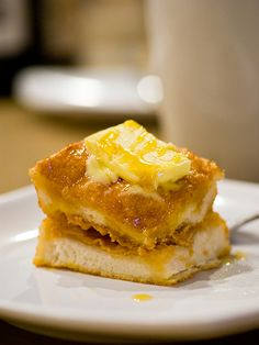 slice of hong kong french toast with syrup and butter! :D