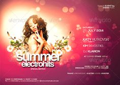 Summer Electro Hits Vol. 01 Flyer Template - http://www.ffflyer.com/summer-electro-hits-vol-01-flyer-template/ Summer Electro Hits Vol. 01 Flyer Template - A summer flyer made to fit any purpose such as a concert, festival, gig, rave, party, club event or any event you can think of, and it's absolutely great for a weekly event or one off event! You can easily edit the text.   #Club, #Electro, #House, #Nightclub, #Party, #Pool, #Sexy, #SpringBreak, #Summer, #Sun
