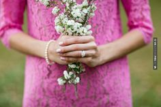 Cool - pink lace dress for wedding engagement from Greer G Photography. | CHECK OUT MORE GREAT PINK WEDDING IDEAS AT WEDDINGPINS.NET | #weddings #wedding #pink #pinkwedding #thecolorpink #events #forweddings #ilovepink #purple #fire #bright #hot #love #romance #valentines #pinky