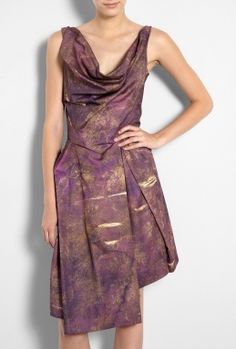 Boeing Printed Better Knot Dress by Vivienne Westwood Anglom Love the cowl neck