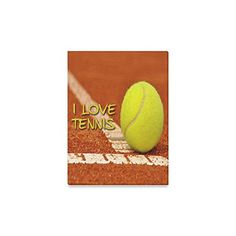 Hot Design Tennis Ball I Love Tennis Oil Painting Home Decor Canvas Prints- 12x16 Inch(One Side) -- You can find out more details at the link of the image.