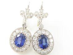 Online veilinghuis Catawiki: Exclusieve diamanten met saffier oorbellen