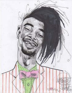 """terbywonder: """"for something i have coming up next month …first attempt… fun …. New School Hip Hop, Danny Brown, Art Boards, Illustration Art, Character Design, Cartoon, Portrait, Drawings, Creative"""