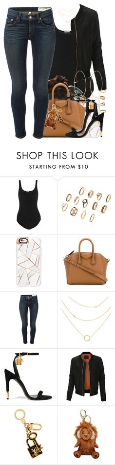 """""""07 September, 2016"""" by jamilah-rochon ❤ liked on Polyvore featuring Wolford, Casetify, Givenchy, rag & bone, Tom Ford, LE3NO, Louis Vuitton, MCM and Accessorize"""