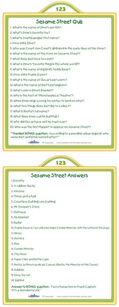 If you'll be having adults coming with their small children to the party why not create a fun activity for them! We've created a printable Sesame Stre...