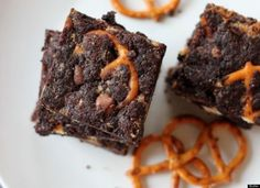 Pretzel, Chocolate Chip And Peanut Butter Truffle Brownies