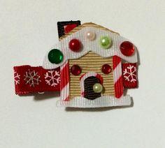 Gingerbread House Hair Clip by BabyBugWear on Etsy