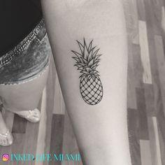 Mini pineapple tattoo :) COME GET TATTED !! #pineappletattoos #minitattoo #microtattoo
