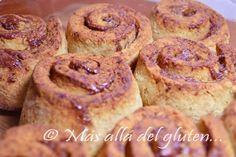 Más allá del gluten...: Rollos de Canela sin Gluten (Receta GFCFSF)