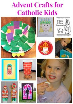 What a collection of Catholic Advent crafts for kids! There's Advent wreaths, Advent calendars, St Nicholas crafts and printables, Our Lady of Guadalupe crafts and ways to celebrate St Lucia!