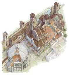 Il Battistero ci dice che siamo in Piazza del Duomo, quando però il Duomo di Santa Maria del Fiore non esisteva ancora. Ne parleremo con #firenzeprimadiarnolfo
