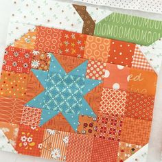 "YaY! It's pumpkin season! This is one of my ""mash up"" blocks from last years…"