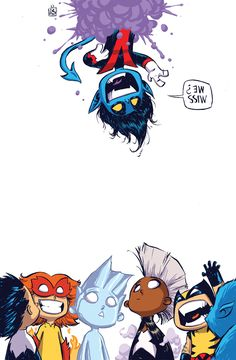Amazing X-Men #1 variant cover by Skottie Young