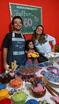 Amei essa foto do Chá de Cozinha Surpresa que ganhamos da sogra - Na foto, Matheus, Aninha - nossa daminha e débora- cunhada!