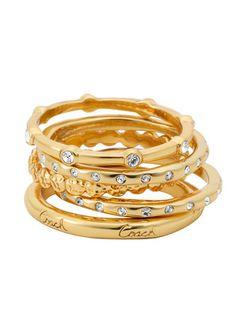 COACH - Five Ring Set