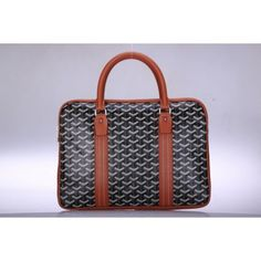 Goyard Briefcase Bags Black Earth-yellow