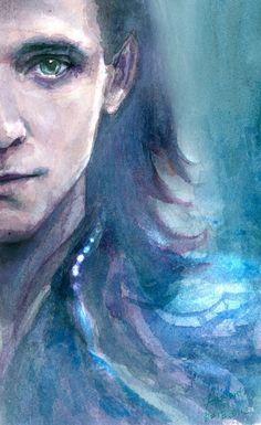 Tom Hiddleston Loki fan art by http://atalantakatze.deviantart.com/art/LOKI-608569497