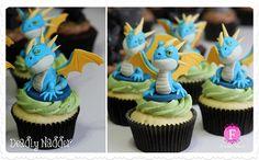 Belíssimos cupcakes inspirados em Como Treinar o Seu Dragão 2