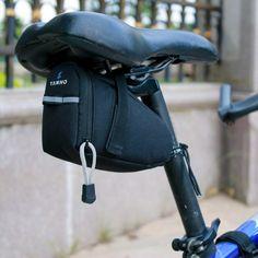 Real Leather Bicycle Saddle Bag Utility Tool Box kit bike vintage handmade stich