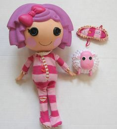 "Lalaloopsy 12"" Full Size Featherbed Pillow Doll w/ Mask & Pet Sheep from 2009 #Lalaloopsy #Dolls"