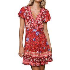 DODUMI Robes Sexy Sunny Fashion Robe Fille Robe Blanche Enfant Robe De  Bapteme Femme Robe Mi 1a2655c9e08