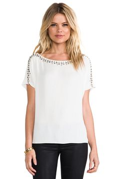 Ella Moss Jess Embellished Top in Natural from REVOLVEclothing