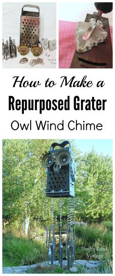 How to make a repurposed grater owl wind chime