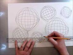Tumbling Spheres Op Art Drawing - YouTube Illusion 3d, Illusion Drawings, Op Art Lessons, Opt Art, 7th Grade Art, Easy Canvas Art, Hand Art, Art Lesson Plans, Pattern Art