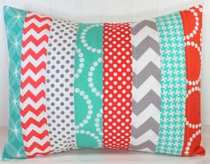 Pillow sham but in red blue and white/cream?
