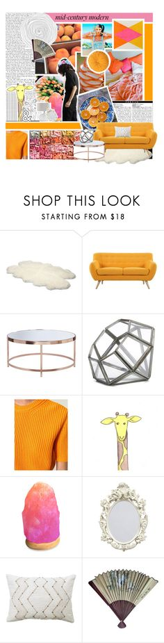 """""""Mid century modern"""" by mint-green-macaroonn ❤ liked on Polyvore featuring interior, interiors, interior design, home, home decor, interior decorating, UGG Australia, Madison, NKUKU and MSGM"""