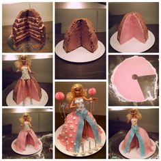 How to make a doll cake Birthday Pies, Girl Birthday, Mini Cakes, Cupcake Cakes, Doll Cake Tutorial, Professional Cake Decorating, Teapot Cake, Birtday Cake, Doll Cakes