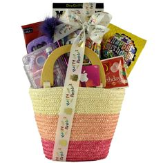 Fabulous Me: Kid's Birthday Basket for Girls Ages 9 to 12, Brown