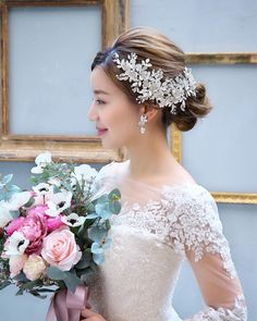 Bridal Headpieces, Bridal Hair, Up Hairstyles, Wedding Hairstyles, Wedding Hair Pieces, Bridal Flowers, Fashion Images, Wedding Hair Accessories, Wedding Photos