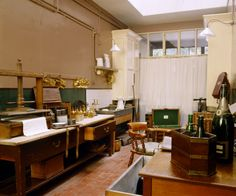 The Butlers Pantry at Cragside, Northumberland including the work benches and butlers equipment
