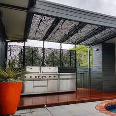 DSD Offers Architecturally Designed Laser Cut Decorative Screens and Metalwork that is Affordable and Custom Made to your Specific Requirements. Laser Cut Screens, Privacy Panels, Decorative Screens, Bbq Area, Pergola Patio, Leaf Design, Laser Cutting, Autumn Leaves, Valance Curtains