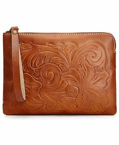 Patricia Nash Handbags, Cassini Tooled Wristlet