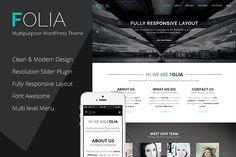 Folia - Multipurpose WordPress Theme by templaza on @creativemarket