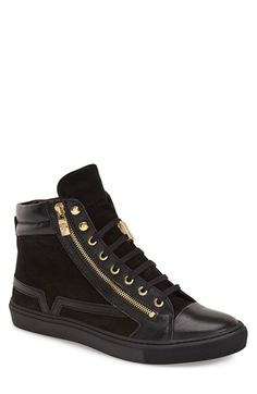 Versace Collection Versace Collection High Top Sneaker (Men) available at #Nordstrom