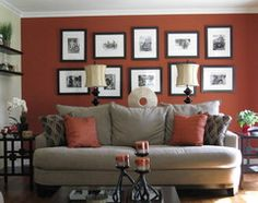 1000 images about burnt orange living room decor on - Burnt orange accent wall ...