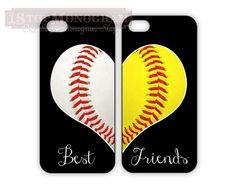 Best Friends Baseball & Softball LOVE cases  BFF by 1stopmonogram, $32.00