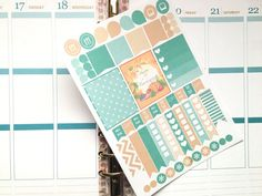 This kit will include 58 stickers that will match your Erin Condren planner for the month of November! These stickers are easy to peel and ready