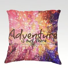 ADVENTURE is OUT THERE Fine Art #Velveteen #Throw #Pillow by EbiEmporium, $75.00