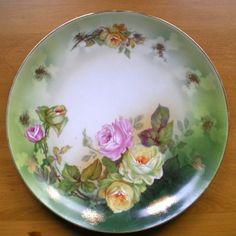 Vintage Austrian rose plate