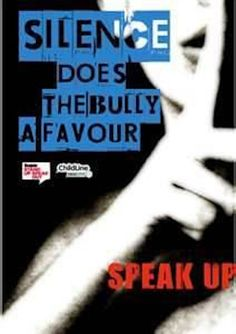 Speak up to help stop bullying.