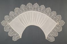 Collar, linen and bobbin lace, c. 1620.
