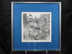 "Original Etching ""Kate and David's House, Inverness"" Stephanie Ingram Scott 1973"